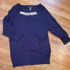 Chelsea & Theodore Embellished Sweater XL